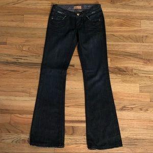 Paige laurel canyon dark low rise boot cut jeans